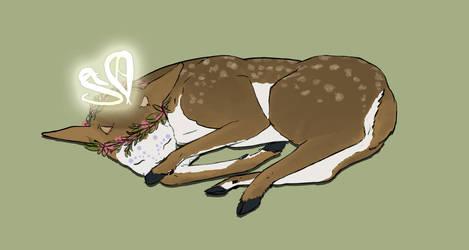 Sleepy Fawn by Vulpesartifex