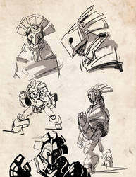 More Golem Sketches by sirdubdub
