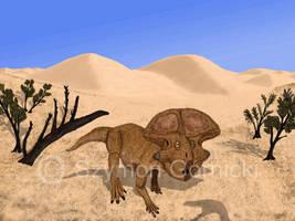 Defense of Protoceratops by Szymoonio