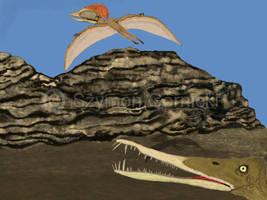 Brazilan pterosurs by Szymoonio