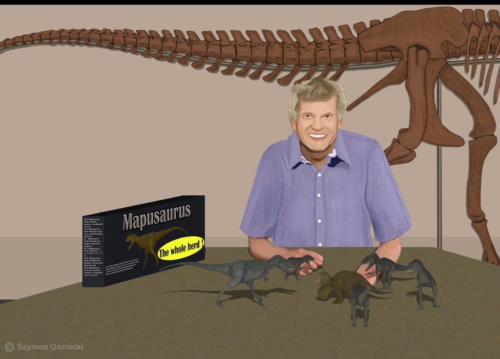 Philip Currie portr. I have to buy dinos in herds by Szymoonio
