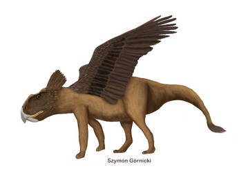 Protoceratops disguise as Griffin. Protoceriffin by Szymoonio