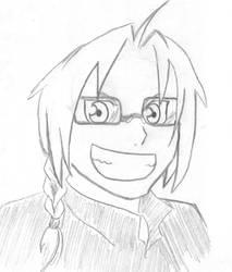 Ed wearing glasses by Mastuyama