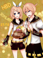 HBD Rin and Len by oheka
