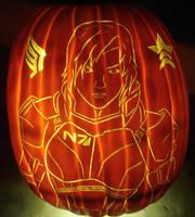 Mass Effect - Choices Pumpkin by RebelATS