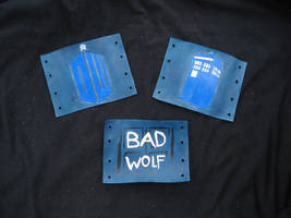 Doctor Who Leather Cuffs by RebelATS