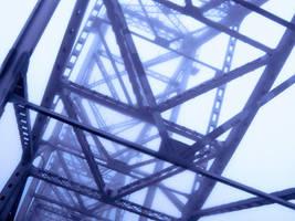 Blue Bridge by raisedoncoffee