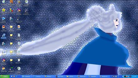 My desktop - widescreen blue by Taneizaereus