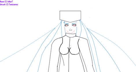 Naomi for ArthurT - Sketch by Taneizaereus