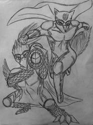 Heroes Fox and Falco by bayonettafan001