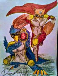 Starfox and Falco Heroes by bayonettafan001