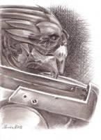 Mass Effect Profile Portrait Series: Garrus by moneeka