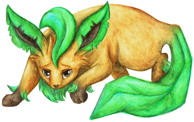 Pokemon - Leafeon by KasiaPOL