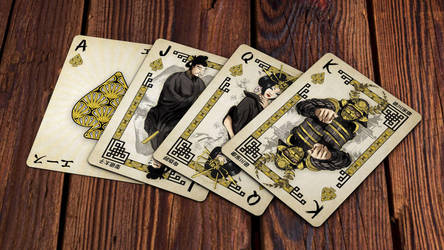 Heroes of Japan Playing Cards - Spades by kardeck-playingcards