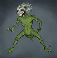 Biting Bubblehead Sea Monkey Alien by BungZ