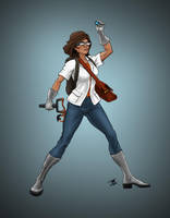 Lucy Chung Vigilante Scientist by BungZ