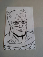 Captain America Sketch by BungZ