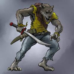 Werewolf Hybrid Form by BungZ