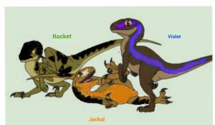 My Baby raptors by megakyurem4188