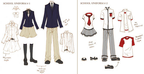 Solstice School Uniforms by ember-snow