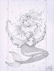 Mermaid Lineart by ember-snow