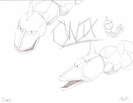 How To Draw Onix Step By Step