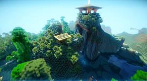 Minecraft Shrine by soongpa