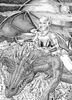 Dragonear - Nightflight by Szigeti