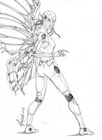 Fairybot 1.0 - Lineart by Szigeti