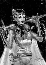 Lady Sif sketch by Szigeti
