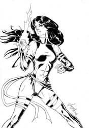 X-Men's Psylocke - Lineart by Szigeti
