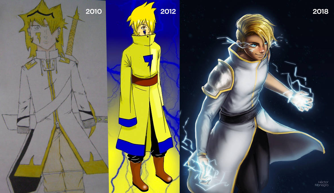 Improvement of Ibari my first OC by Hector-Monegro