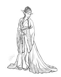 Coloring Book Preview: Alternative History Elf 1 by Miserie