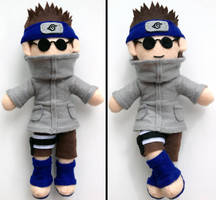 Shino Aburame Naruto Plush doll Commission by aleena