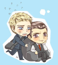 Suits - Mike x Harvey by Pra88
