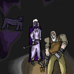 Drizzt and Belwar by Ikulynd