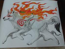 Big Wolf Mama by MayhWolf
