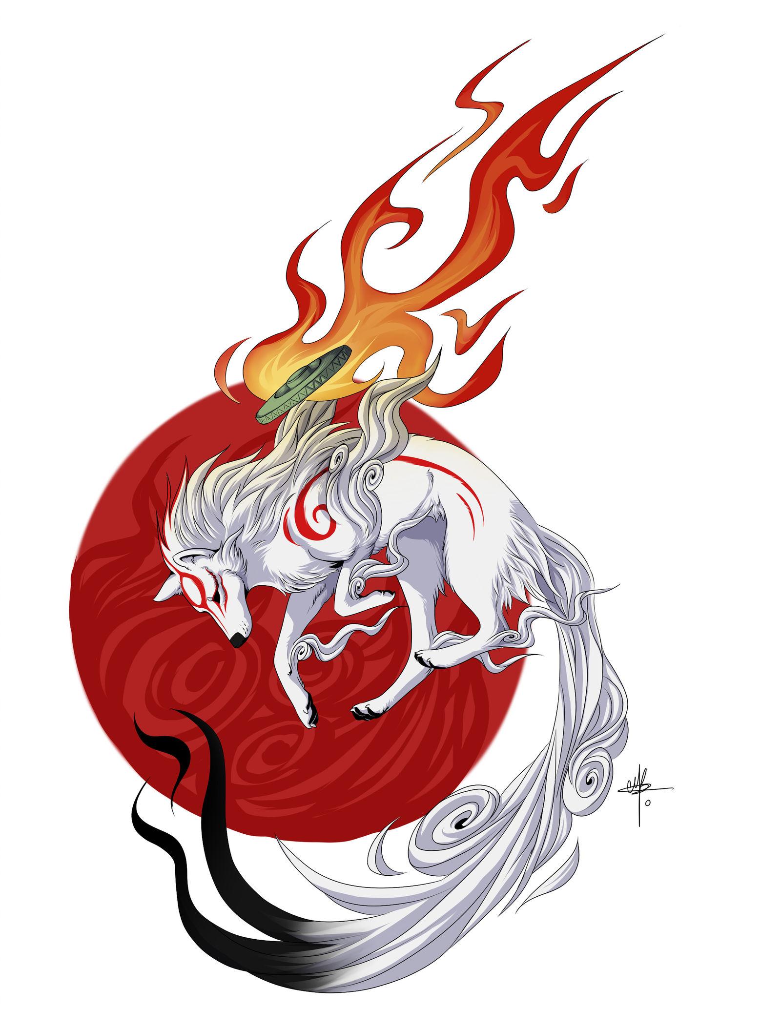 CE - Okami Amaterasu by MayhWolf