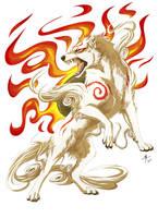 Okami - Amaterasu by MayhWolf