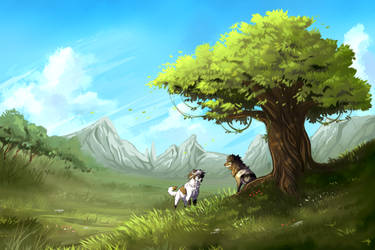 Under the Tree by MayhWolf
