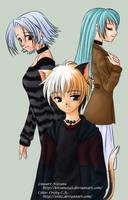 Fan art of my characters by Zeitz