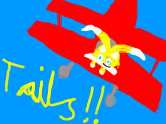 tails flying by sexysonic15