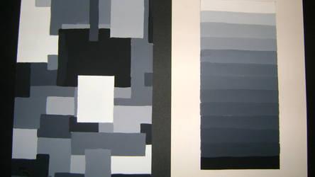 Gradation of grey ( chromatic gradation ) by ElizabethEs