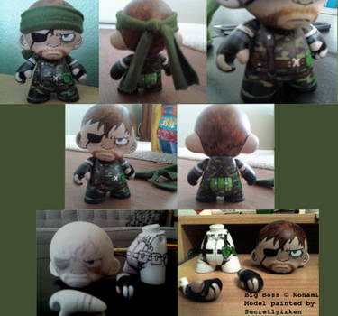 Munny Doll Paint: Big Boss MGS by SecretlyIrken