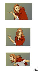 Prince Adam's Temper Tantrum by MouseThatRoared