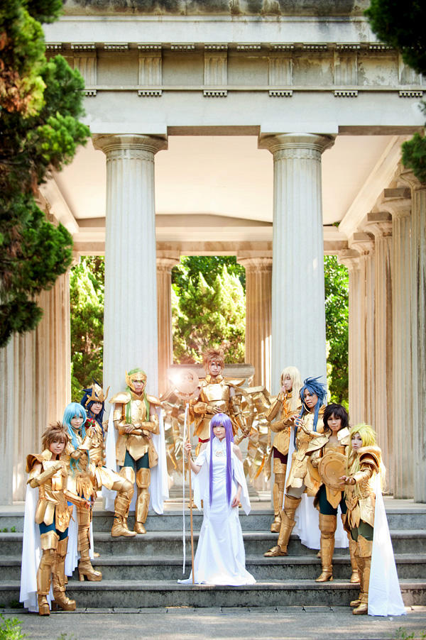 ATHENA'S GOLD SAINTS by sara1789