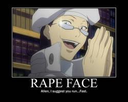 Komui's rape face by lolololninja