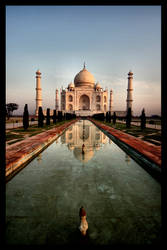 Seven Wonders - The Taj Mahal by johanishere