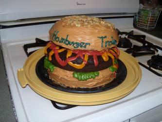 Hamburger Cake by CthulhuCalling13