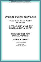Digital Comic Page Template by TheInkyWay